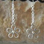 Long Flower Link Dangle Ear..
