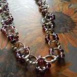 Glass Beaded Linked Necklac..