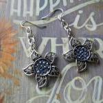 Silver Flower with Swarovsk..