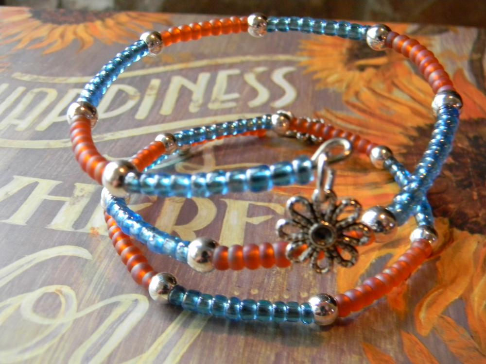 Glass Beaded Wrap Around Bracelet/Anklet